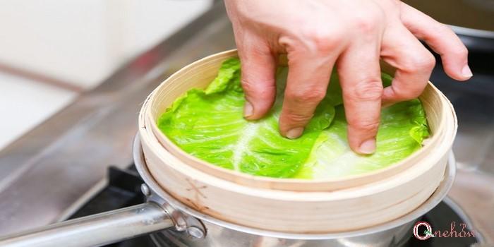 پخت ماهی بخارپز در سبد بخارپز