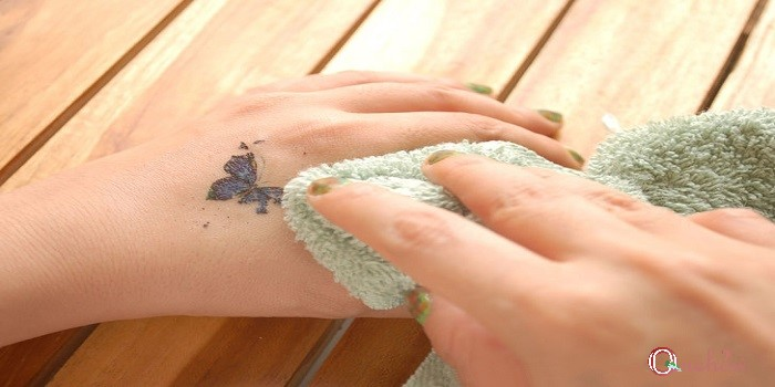 for Removal of temporary tattoos