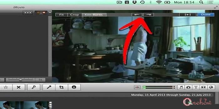 چرخاندن فیلم در iMovie
