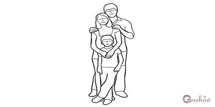 ژست خانوادگی برای عکس