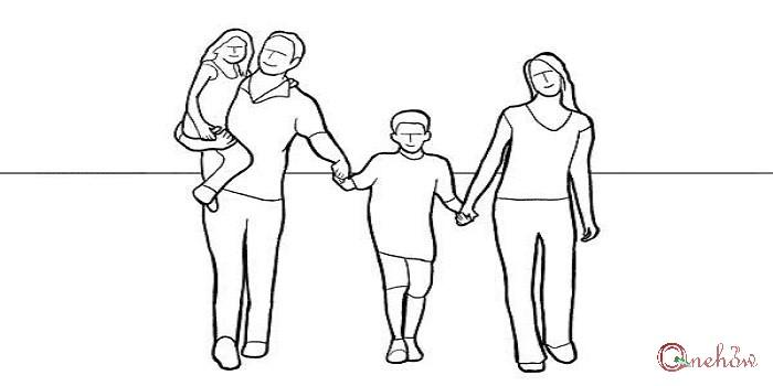 چگونه ژست برای عکس خانوادگی بگیریم