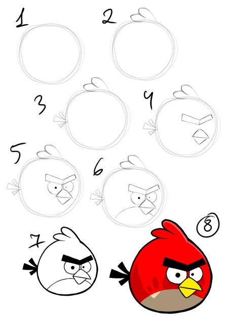 چگونه پرندگان خشمگین را نقاشی کنیم